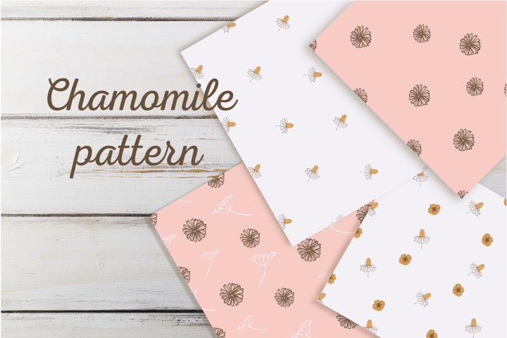 seamless pattern chamomile
