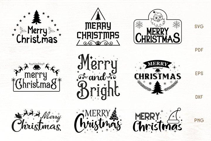 Christmas SVG - Merry Christmas SVG Bundle