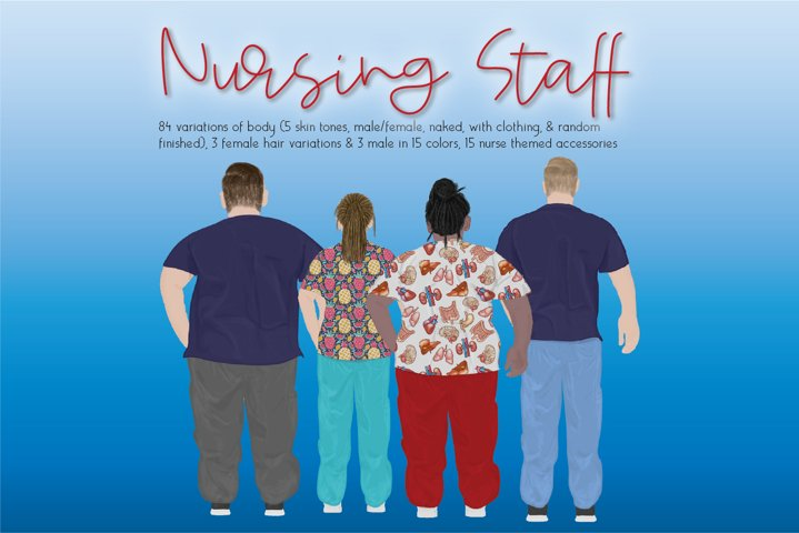 Hospital Staff Clipart Set