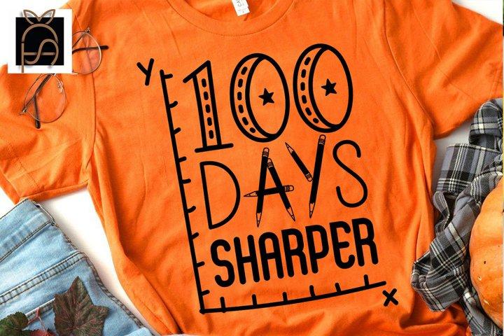 100 Days Sharper - 100 Days of School SVG DXF EPS PNG