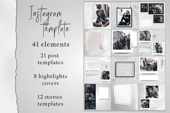 Instagram templates set Canva