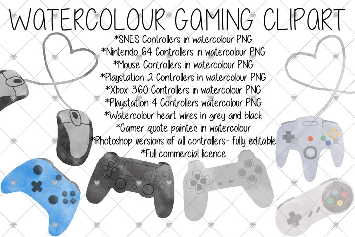 Gamer, Gaming, Watercolour, PlayStation, Xbox, Retro,