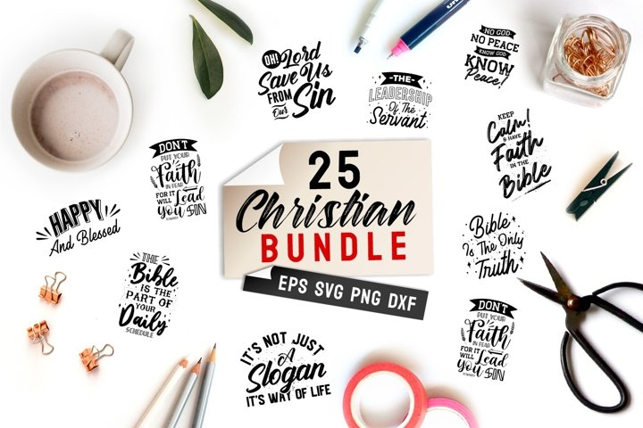 Christian Quotes SVG Bundle Lettering and SVG Cut Files
