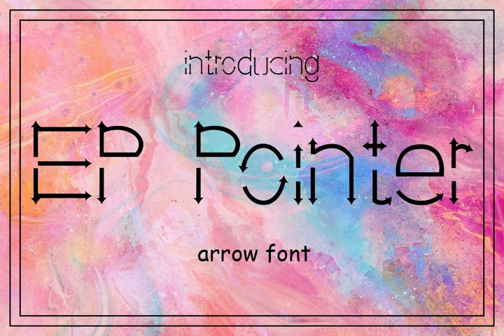 EP Pointer - An Arrow Font