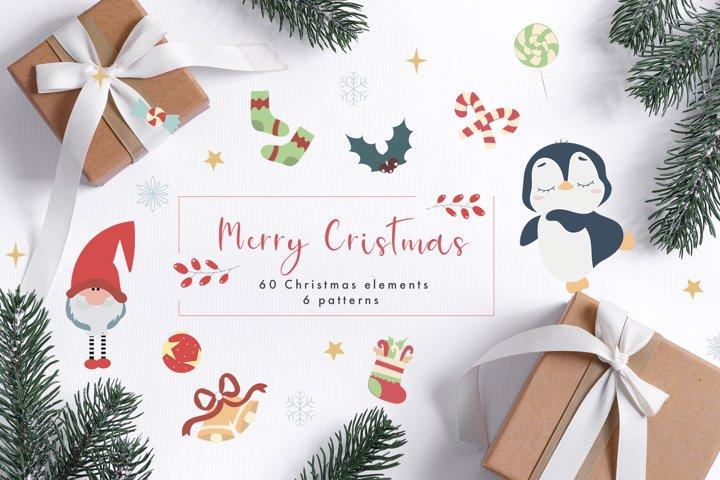 Christmas set vector graphics