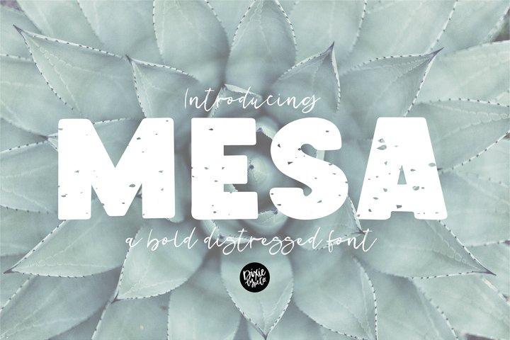 MESA a Bold Distressed Font