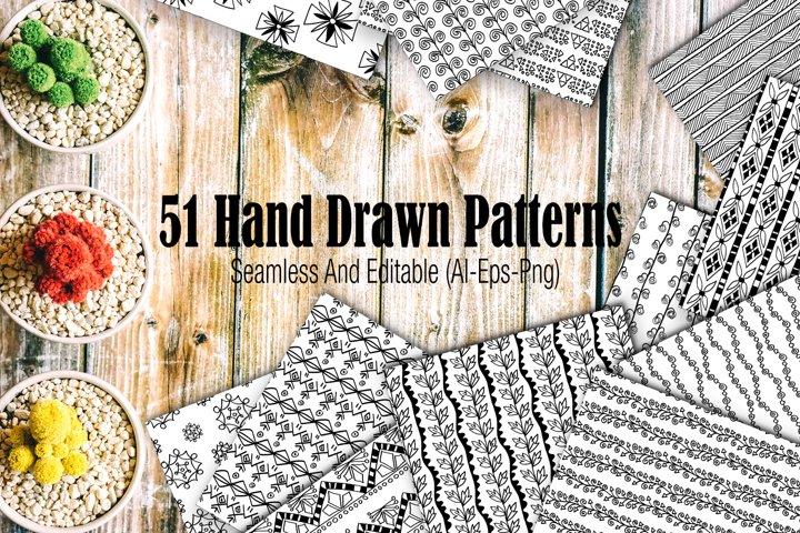 51 hand drawn patterns