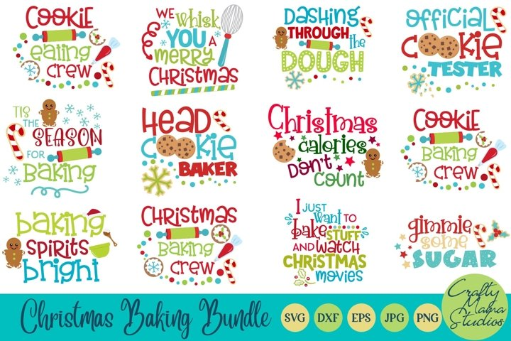 Christmas Baking Bundle Svg, Christmas Cookie Cut Files