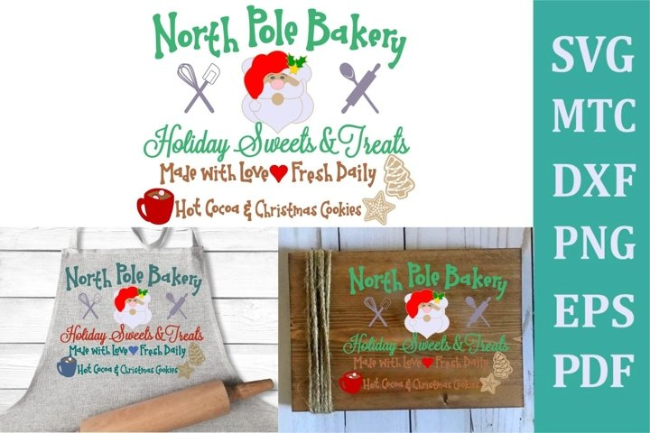 North Pole Bakery Christmas Sign #02 SVG Cut File