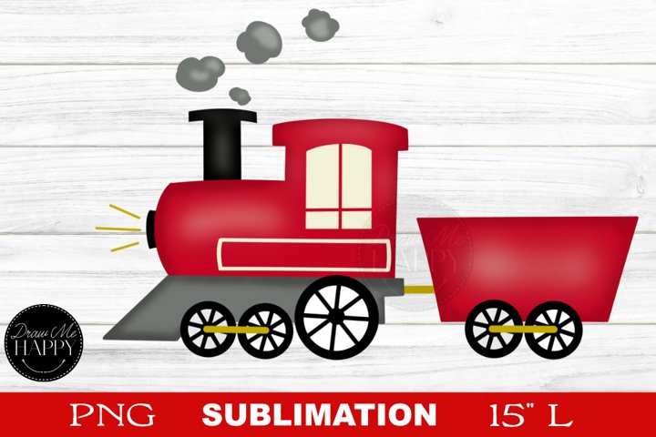 Train, Train Sublimation, Red Train, Christmas, Sublimation