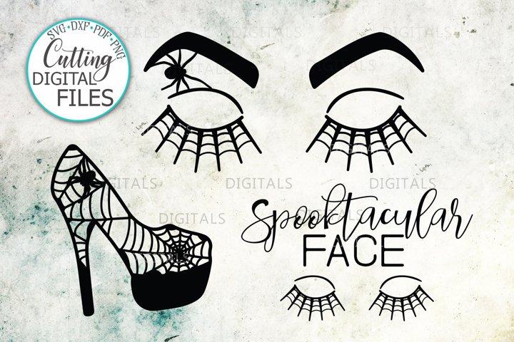 Halloween Face eyelashes high heel for teacher beauty salon