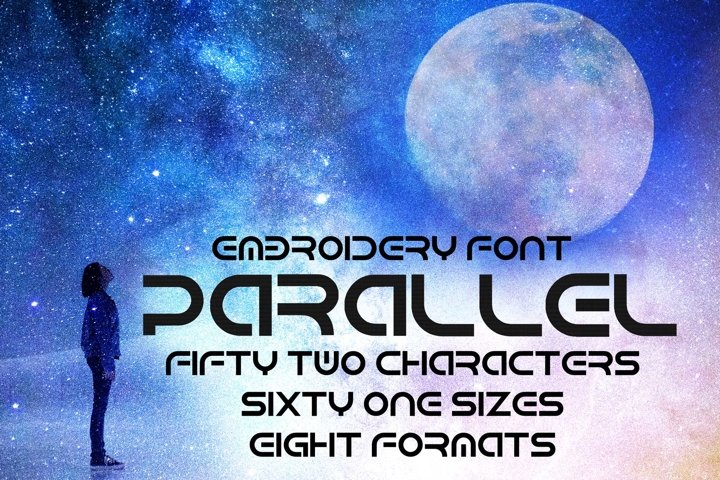 Futuristic Modern Sci-Fi Embroidery Font, Techno Font
