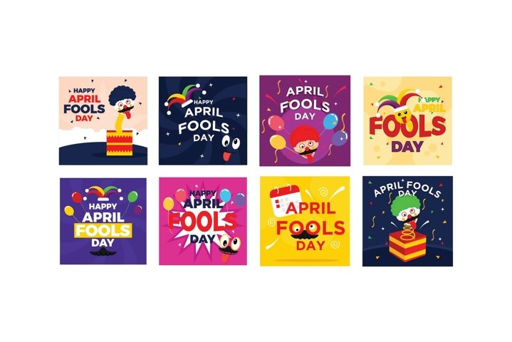 Bundle April Fools Flat Design