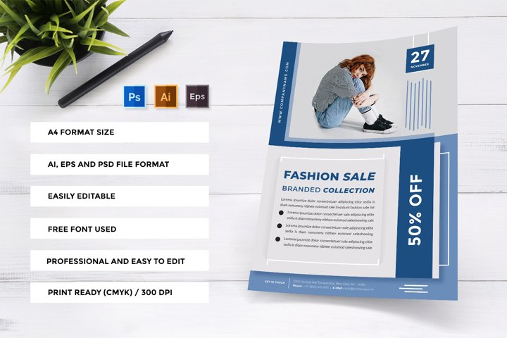 Fashion Sale Branded Collection - Minimalist Clean Flyer