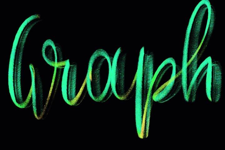 Procreate Brush - Rainbow Graph| Design 2 Last
