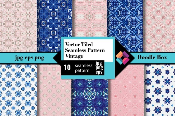Vector Tiled Seamless Pattern Vintage