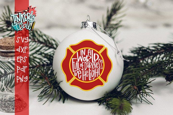 Firefighter Ornament SVG