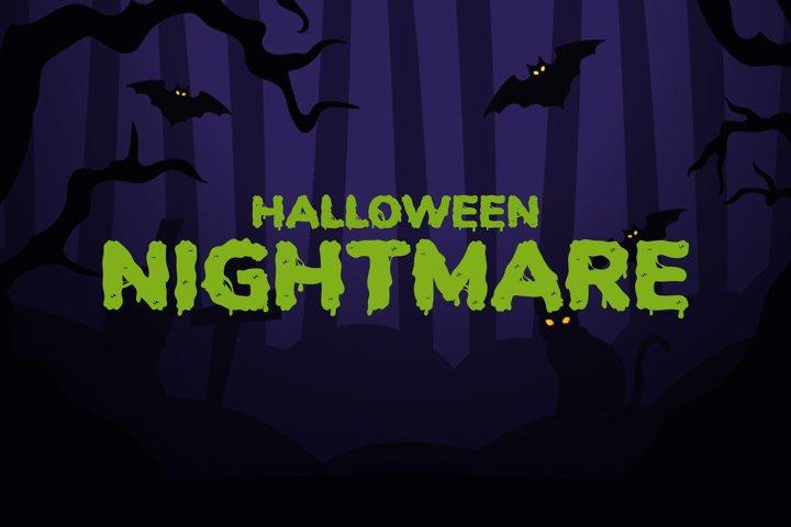 Halloween Nightmare - Spooky Display Font