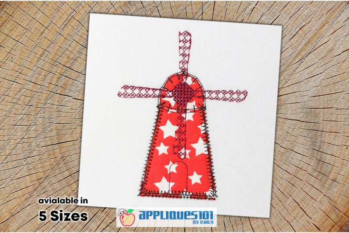 Windmill for Kids Embroidery Applique Design - Windmills