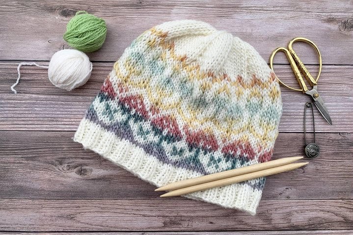 In Bloom Beanie Knit Pattern