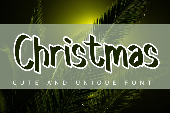Christmas - Holiday Font