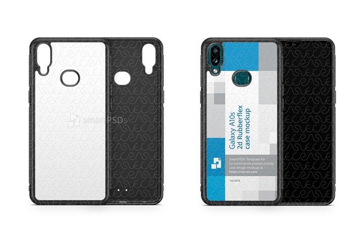 Galaxy A10s 2019 2d Rubber Flex Case Design Mockup