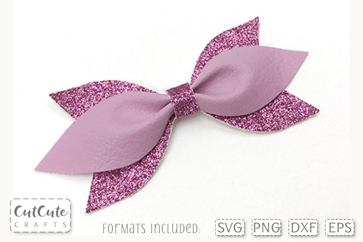Little Pinch Bow SVG cut files, PDF Bow template