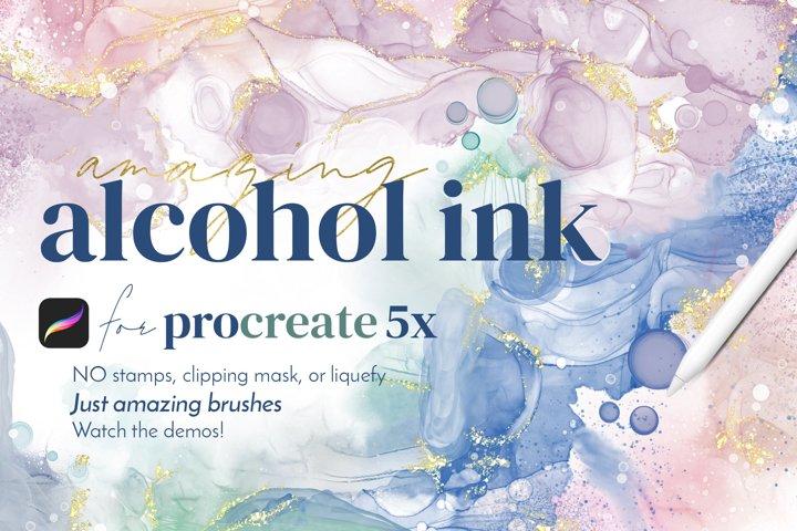 Amazing Alcohol Ink Brushes for Procreate