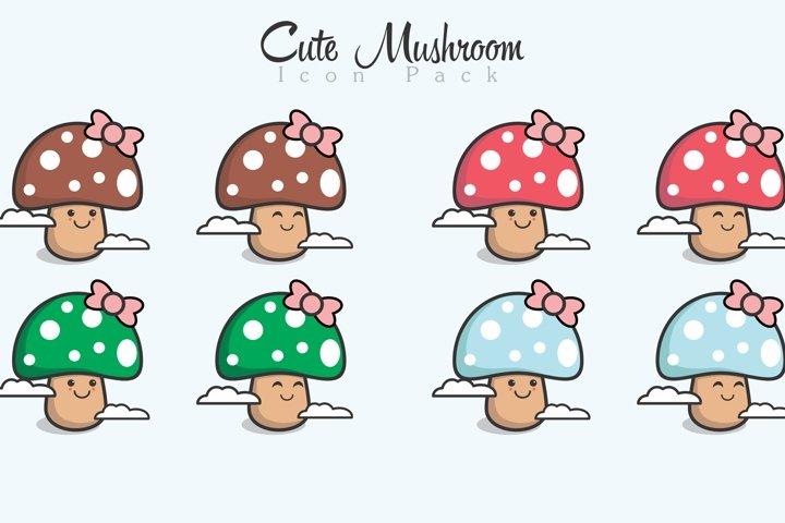 Cute Mushroom Icon Pack