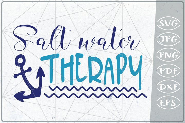 Salt Waret Therapy SVG Cutting File -Summer SVG Cutting File