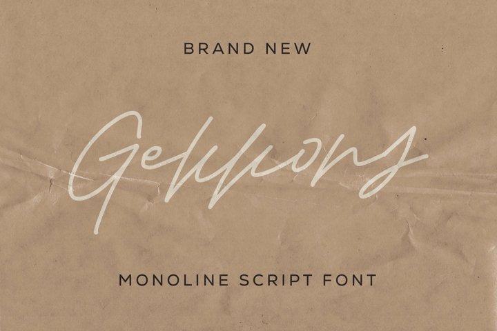 Web Font Gekkons - Monoline Script Font
