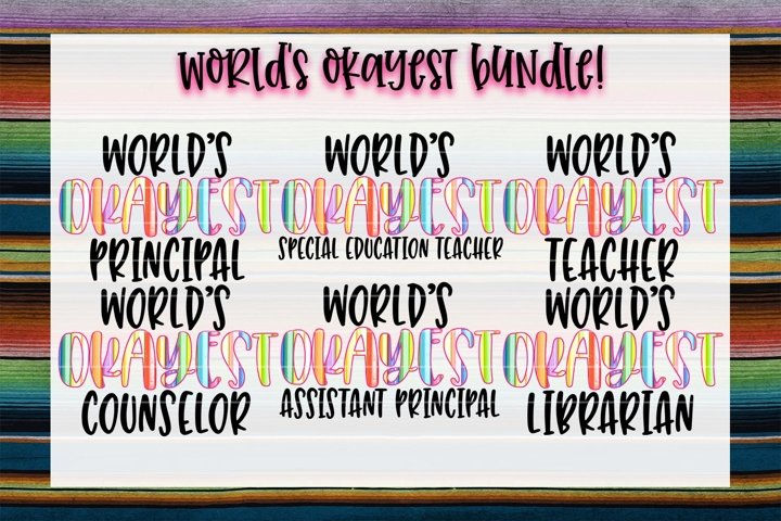Worlds Okayest Education Bundle!