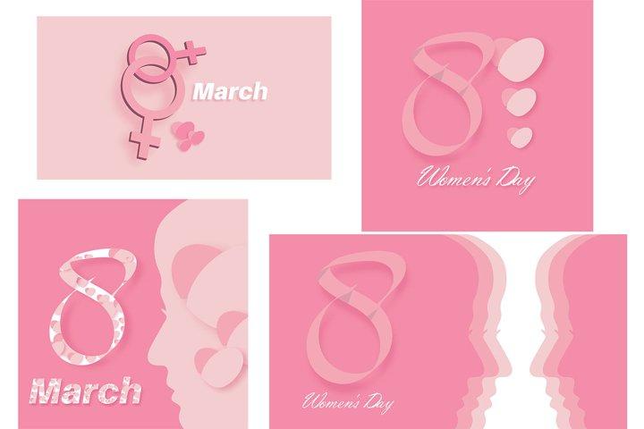 vector international womens day background design