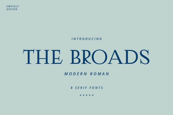 The Broads Font