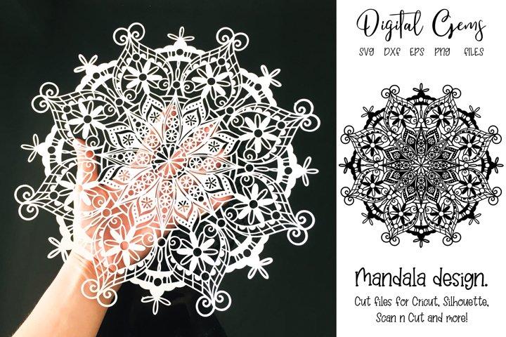Mandala design, SVG / PNG / EPS / DXF Files