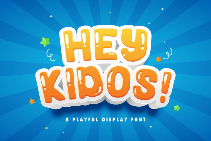 Hey Kidos! - Playful Display Font