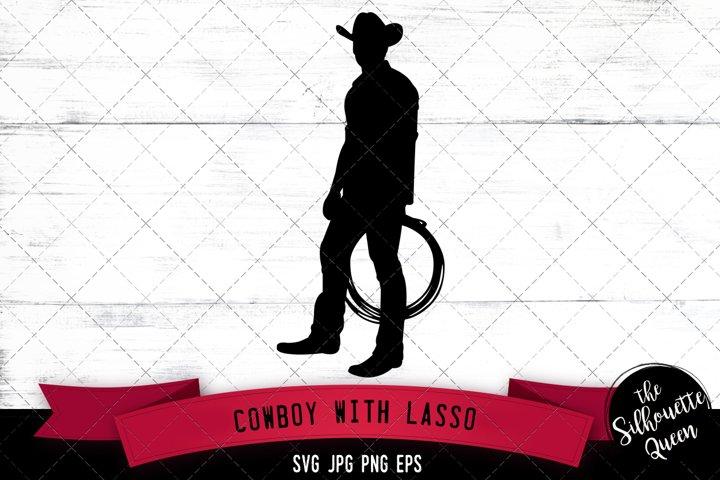 Cowboy with Lasso Svg Cut File