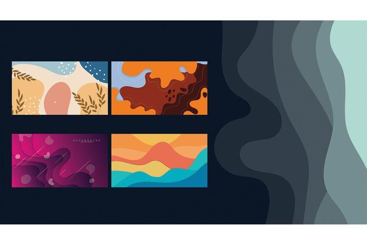 Set bundle abstract vector art background vol 2