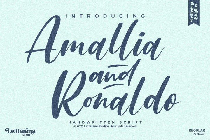 Amallia and Ronaldo - Handwritten Script Font