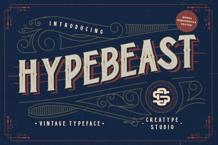 Hypebeast - Layered Font & Ornaments