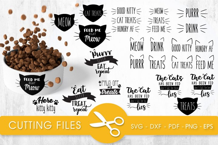 Cat quotes bundle cutting files svg, dxf, pdf, eps, png incl