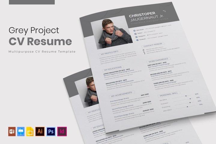 Grey Project | CV & Resume