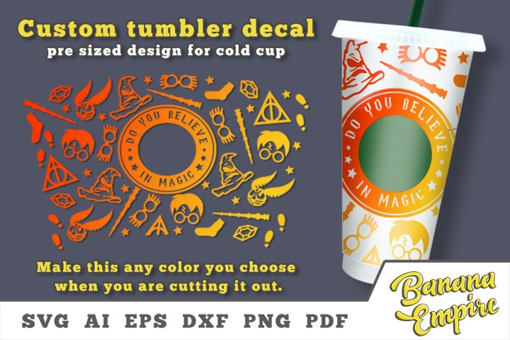 Believe in Magic set to personalize your Cold Cup Tumbler