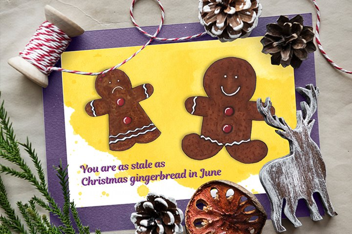 Postcard with gingerbread for Ex boyfriend