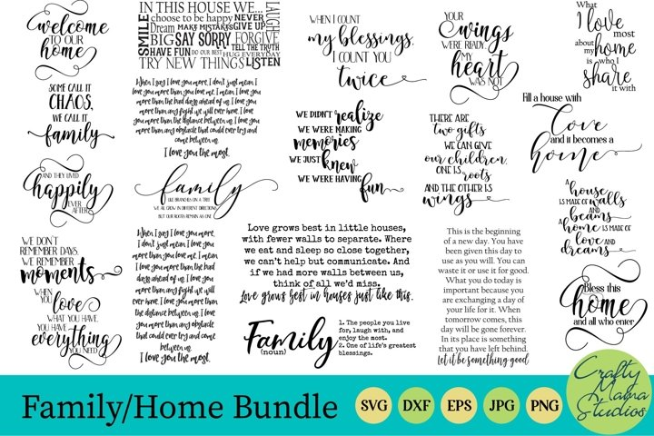 Family Bundle Svg, Home Bundle Svg
