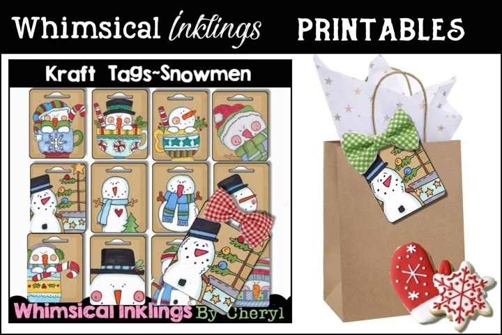 Snowman Kraft Tag Collection