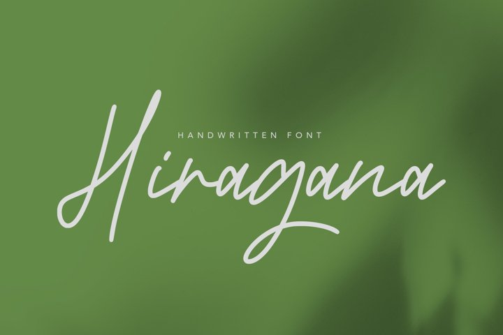 Hiragana - Signature Fonts