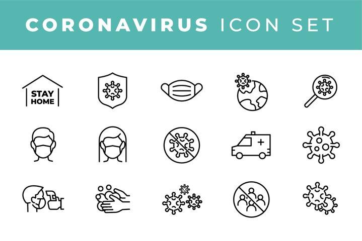 Coronavirus icon set for infographic or website