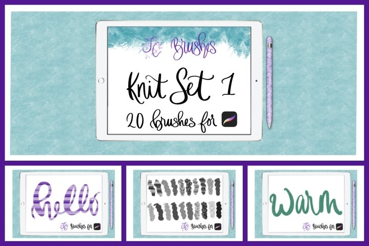 FC-Knit-Set1 brushes for PROCREATE