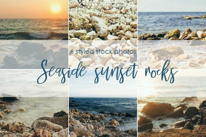 Seaside sunset rocks bundle